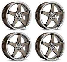 Enkei 446-770-0245ZP Set of 4 Bronze EV5 17x7 Wheels Machined Lip 5x100/5x114.3