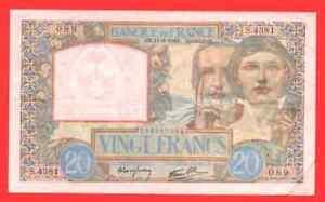 20 Francs Travail et Science 1941