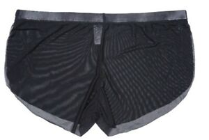 US Sexy Mens Sheer See Through Boxer Briefs Underwear Mesh Shorts Underpants