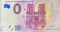 BILLET 0  EURO  TOURS NOTRE DAME DE PARIS   FRANCE  2018  NUMERO DIVERS