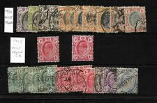 South Africa, Transvaal,  1904/5 KEVII selection, mint and used  (SA176)