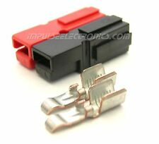 Anderson Powerpole Connector, 45 Amp, Red & Black BONDED Housings, 10 pack