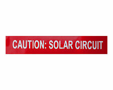 20 PV Solar Labels Vinyl UV Resistant Caution: solar circuit