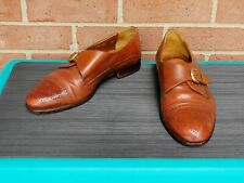 Bostonian VERO CUOIO Men's Florentine Dress Shoes Brown Leather Size 8 M - Italy