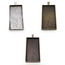 Alloy Pendant Cabochon Settings / Trays - Choose Size & Shape - Tile Pendants