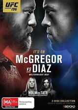 UFC #196 - McGregor Vs Diaz (DVD, 2016, 2-Disc Set) New   Region 4