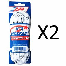 A&R Sports Usa Hockey Laces - Non-Waxed Striker Laces - White 108 Inch (2-Pack)