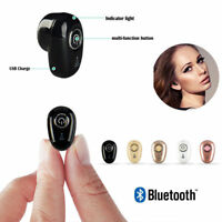 Bluetooth 4.1 Small Wireless Stereo In-Ear Headset Earphone For Samsung Iphone