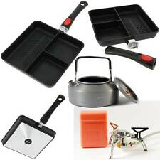 NGT Multi Section Frying Pan + Saber Fishing Gas Stove + Kettle 0.9L Camping