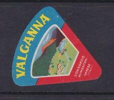 Ancienne  petite  étiquette fromage Italie  BN19318 Valganna 2