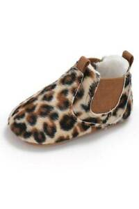 Baby Girl Leopard Slip On Shoes  0-6 6-12 12-18 Months