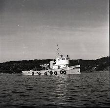 "Norwegian Tug Boat ""Nordryggen"" - Vintage 120mm B&W Negative"