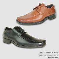 BRAVO New Men Dress Shoe MONACO-3 Oxford Square Double Runner Toe Leather Lining