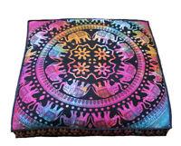 35'' Square Mandala Floor Pillow Cover Ottoman Pouf meditation Cotton Cushion