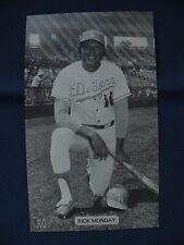 J.D. McCarthy Rick Monday Los Angeles Dodger postcard baseball