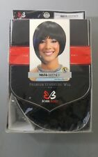 E8 Bobbi Boss Wig Britney Synthetic Short Cut Bob Black Purple Color 1B