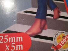 Anti Rutsch Streifen  5 Meter  x 25 mm  grau für Schwimmbad Treppen Gartenfliese