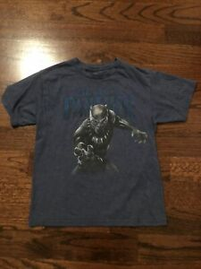 Boy's Marvel Black Panther Short Sleeve T-shirt Size L