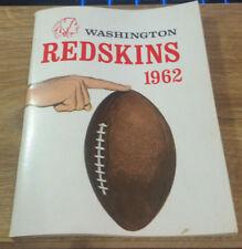 Washington Redskins RARE 1962 Media Guide Norm Snead program press Football