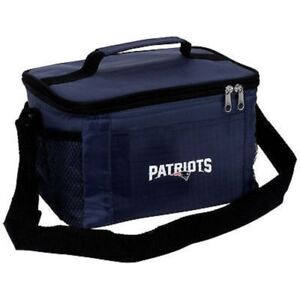New England Patriots Cooler Zipper Insulated Lunch Bag Box Tote 6 Pack NFL