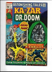 Astonishing Tales 6 VG+ (4.5) 6/71 Kazar and Dr Doom! Black Panther!