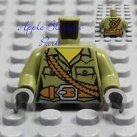 NEW Lego Female OLIVE GREEN MINIFIG TORSO - Explorer Ranger Uniform Girl Shirt