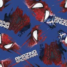 Fat Quarter Marvel Spiderman Grunge Cotton Quilting Fabric