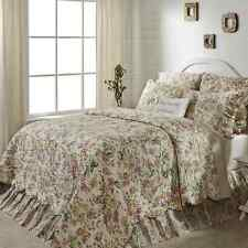 MADELINE 4 PC QUEEN BEDDING SET  QUILT 2 STANDARD SHAMS BED SKIRT PINK FLORAL