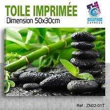 50x30cm TOILE IMPRIMÉE TABLEAU DECO - BUDDHA ZEN RELAX SPA DETENTE - ZN-02T