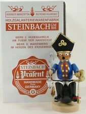 "Steinbach German Wooden Nutcracker Chubby Smoker ""MÜNchhausen� S798 New"
