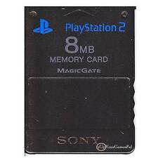 PLAYSTATION 2 MEMORY CARD SONY JAPAN ORIGINAL PS2 8 (MB) - BLACK SCPH-10020