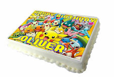 Pikachu A4 Birthday Cake Topper - High Quality Edible Icing