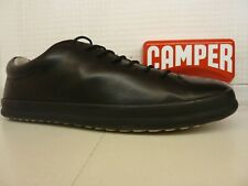 Camper Chasis Sport K100373-008 Black Leather Trainer Lace Up Casual Shoe