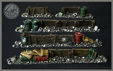 Barricades, walls, scenery, miniatures by Light Caster Wargame Terrain