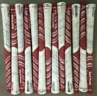 13X Golf Pride New Decade Multicompound MCC WHITEOUT Golf Grips Standard Red 13