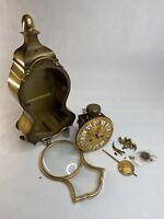 Schmid German Mantel Clock Movement 8 Day Neuchatel Bracket Chime Parts Repair