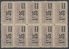 1926 FRANCE COLIS POSTAUX N°39** en BLOC DE 10 CP Cote : 150€, 1°CHOIX/TB