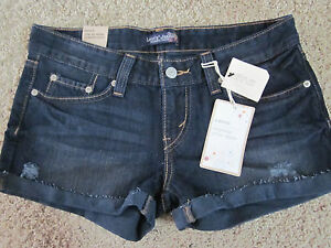 Levis Jeans NWT Jr. 7 Rolled Destroyed Dark Wash Shorts Very Cute !!