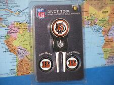 Cincinnati Bengals Nfl Divot Tool Golf Ball 3 Marker Divot Pack *Brand New*