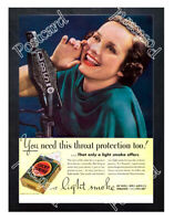 Historic 'Lucky Strike' for cigarettes. 1937 Advertising Postcard