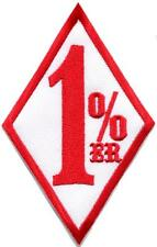 One Percenter 1%er biker outlaw motorcycle gang applique iron-on patch S-1180