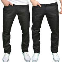 Twisted Faith Mens Designer Branded Regular Fit Zip Fly Coated Denim Jeans, BNWT