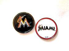 MLB Miami Marlins Golf Ball Marker Enamel Metal Team Logo 2 Sided Hat