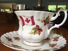Royal Albert Canada, From Sea To Sea Tea Cup And Saucer, Made In England