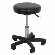 New ListingRolling Adjustable Swivel Round Pu Stool Home office Bar Chair w/ wheels Black