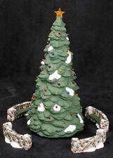 Dept 56 Heritage Village Town Tree Porcelain Chrismtas 5pc Display 5565-4