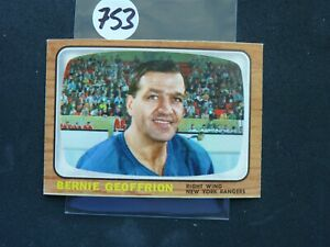 VINTAGE HOCKEY CARD TOPPS  1965   BERNIE GEOFFRION NEW YORK RANGERS  NO753