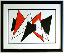 "Alexander CALDER ORIGINAL 1963 Color Lithograph ""Primary Stabiles"" Framed COA"