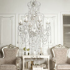 Large Chandelier French Provincial Style ANASTASIA 6 Arm Light Glass Crystals