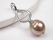 925 Silber Orquidea großer Anhänger mit Mallorca-Perlen, Hochzeit (61129)